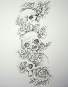 Image detail for -Skull Roses Sleeve by ~DanielleHope on deviantART