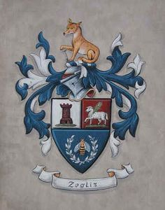 family crest with fox