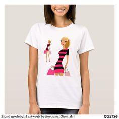 Blond model girl artwork T-Shirt