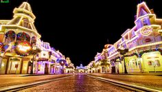A Mouse-Eye View of Main Street at Christmas by Tom Bricker (WDWFigment), via Flickr