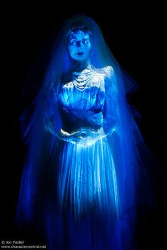 *ATTIC BRIDE ~ The Haunted Mansion, 2003....WDW April 2009 - Riding through the Haunted Mansion by PeterPanFan, via Flickr
