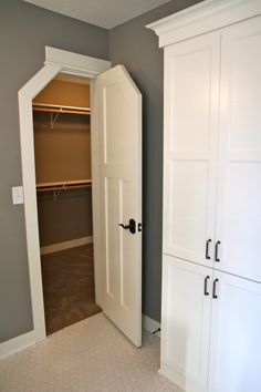 Clipped Closet Door - This might work for closets in the dormers. & 5 Tips for Organizing Dress Up Clothes | Extra storage Bonus rooms ...