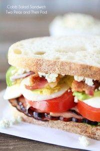 Cobb Salad Sandwich | Two Peas and Their Pod | www.twopeasandtheirpod.com