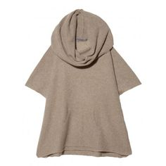 "Shawl collar poncho with a front pouch pocket. 24"" from center front neckline to front hem. 100% Cashmere. Dry Clean. Imported. O/S. Color: Camel"