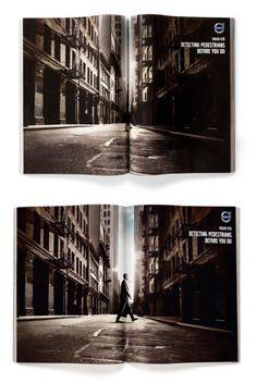 """""""Volvo Pedestrian"""" gefunden auf www.printpower.at gepinned von der Hambuerger Werbeagentur www.BlickeDeeler.de"""