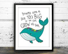 Eclectic Design & Illustration by NarwhalDesignInk on Etsy Nautical Wall Decor, Nautical Nursery, Nursery Prints, Nursery Art, Nursery Decor, Whale Nursery, Baby Whale, Whale Decor, Nursery Quotes