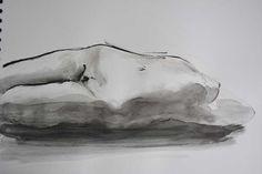 Elodie par JC Debray (Atelier Artmedium le 18 mars 2014) - Encre de chine