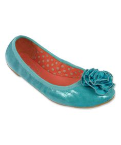 This Lindsay Phillips Turquoise Liz Embellished Ballet Flat by Lindsay Phillips is perfect! #zulilyfinds
