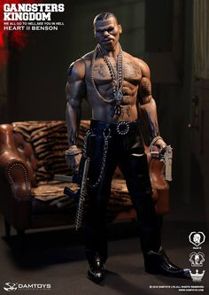 "toyhaven: DAM TOYS 1/6th scale Gangsters Kingdom ""Heart II"" Benson 12-inch figure aka Mike Tyson"