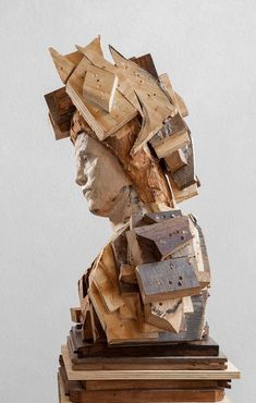 Sculpture Head, Wood Sculpture, Sculpture Techniques, Vision Art, Contemporary Sculpture, Figurative Art, Abstract Expressionism, Art Dolls, Woodworking Projects