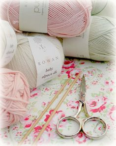 A favourite combination... plenty of suggested retailers of pretty yarn from Mary Jane's Tearoom website here: http://www.maryjanestearoom.com/p/yarns_08.html
