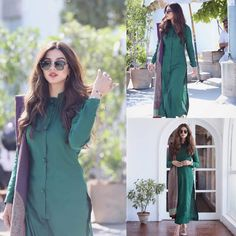 The Gorgeous 😍😎 SonyaHussyn Slaying In Green💚 - - - Sleeves Designs For Dresses, Dress Neck Designs, Stylish Dress Designs, Stylish Dresses, Casual Dresses, Pakistani Fashion Casual, Pakistani Dress Design, Pakistani Outfits, Indian Outfits