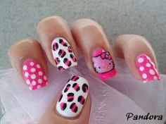 Pandora nails: Hello Kitty.....  My daughter would love this!