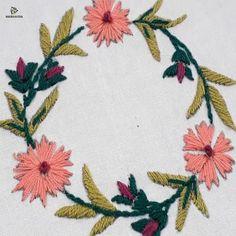neck patterns for kurtis neckline embroidery designs ~ neckline embroidery designs for kurtis Simple Embroidery Designs, Hand Embroidery Patterns Free, Hand Embroidery Videos, Embroidery Flowers Pattern, Butterfly Embroidery, Embroidered Flowers, Cushion Embroidery, Embroidered Cushions, Embroidery Art
