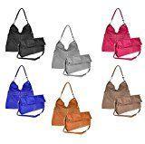 OBC ital-design moderne Damen Shopper DIN-A4 Tasche Beuteltasche Hobo-Bag Schultertasche Umhängetasche Damenhandtasche Handtasche: Moderne…