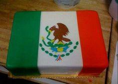 Cake bandera mexicana