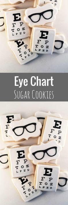 Eye Doctor Glasses cookies ~ Custom Sugar Cookies ~ priced per dozen! #affiliate