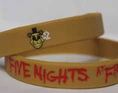 FIVE NIGHTS at FREDDY'S Silicone Bracelet New FNaF Golden Freddy Look Its Me