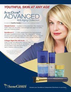 Advanced Anti-Aging Collection: Climate Control, SeneSerum-C, Collagen Night Pak with brush #SeneGence #SeneDerm #SenePlex