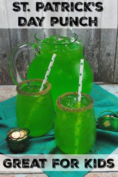 St. Patricks Day Punch, Perfect for a St. Patrick's Day party, Non alcoholic, Great for kids