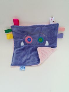 SALE Monster face taggy comfort blanket and by MonsterOrphanage, £16.00