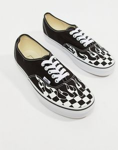 Vans Authentic Flame Sneakers In Black VA38EMRX8. Cute VansCute ShoesVans  ... 65bb5207635
