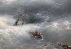 Ivan aivazovsky, l'onda, 1889, dett - Category:Paintings of ships in distress - Wikimedia Commons