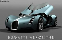 Bugatti Aerolithe Hyper-Concept opens the doors upwards to lift the dashboard