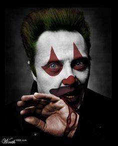 Evil Celebrity Clowns - Christopher Walken - Famous Faces Digitally Repainted at (GALLERY) Gruseliger Clown, Clown Pics, Es Der Clown, Circus Clown, Creepy Clown, Halloween Circus, Clown Makeup, Halloween Makeup, Dark Circus