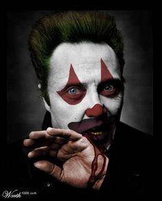 Evil Celebrity Clowns - Christopher Walken - Famous Faces Digitally Repainted at (GALLERY) Gruseliger Clown, Clown Pics, Circus Clown, Creepy Clown, Halloween Circus, Dark Circus, Foto Fun, Send In The Clowns, Evil Clowns