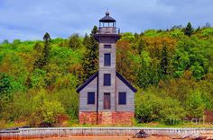 Grand Island Lighthouse in Munising Michigan