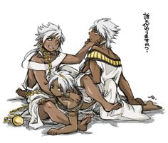 Magi - Sphintus, Sharrkan, & Armakan Amun Ra - can you tell who's who?