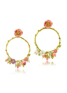 Les Nereides Love Garden Large Hoop Earrings