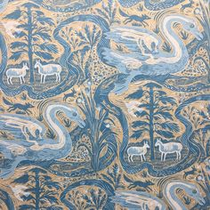 'Compton Verney' wallpaper by Mark Hearld for St. Designed as part of the re-display of the British Folk Art Collection at Compton Verney Surface Pattern Design, Pattern Art, Compton Verney, Glasgow School Of Art, Designer Wallpaper, Wallpaper Designs, Royal College Of Art, Fabric Wallpaper, Graphic Design Typography