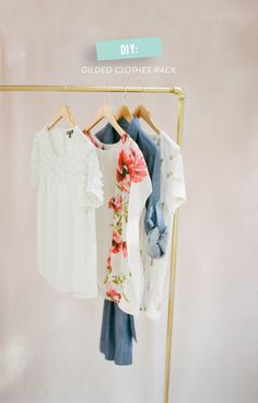 DIY Clothes Rack | Photography: white loft studio - whiteloftstudio.com  Read More: http://www.stylemepretty.com/living/2014/08/04/diy-clothes-rack/