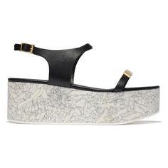Stella McCartney marble sole flatform sandal