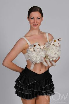 BRA, BRA, WHITE SHEEP, Jaymie Earl, New Zealand. Bizarre Bra Section, 2010 Brancott Estate WOW Awards Show