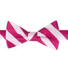 Men's Bow Tie Tuesday Horse Racing Pre-Tied Bow Tie, Dark Pink