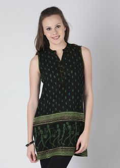 Buy Enah Printed Women's Tunic... Stylish front-buttoned wear... good for nursing mothers.