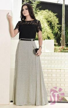 look evangélico,inspire se Maxi Outfits, Modest Outfits, Modest Fashion, Chic Outfits, Hijab Fashion, Fashion Dresses, Blouse And Skirt, Dress Skirt, Western Dresses