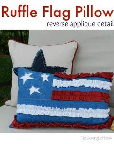 Folk Art America Pillow