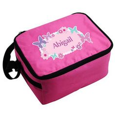 Pink Butterfly Lunch Bag | Personalise | Back to School | Absolutely Adorable