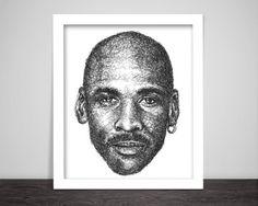 Scribbled Michael Jordan