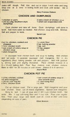 Retro Recipes, Old Recipes, Vintage Recipes, Cookbook Recipes, Turkey Recipes, Meat Recipes, Chicken Recipes, Cooking Recipes, Family Recipes