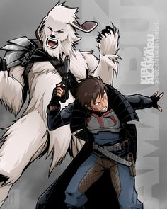 Kiba and Akamaru smuggler style! by G-Matoshi on DeviantArt