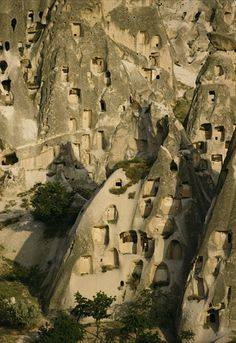 Rock dwellings of Cappadocia, Turkey.