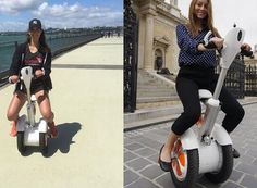 Airwheel A3 two wheel scooter is welcomed by beauty