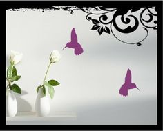 Hummingbird Silhouettes  Vinyl Decal lot of 2 by BubbaAndDoodle, $4.00
