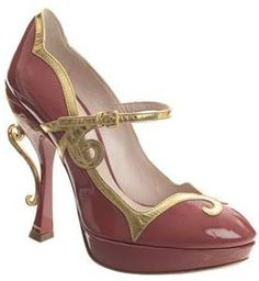 Miu Miu  Tea Cup Mary Jane Platform pumps. Yes I would even get them in pink.