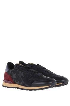 VALENTINO GARAVANI  camouflage Rockrunner sneakers Blue Lace, Lace Up, Valentino Garavani, Calf Leather, Bordeaux, Camouflage, Dark Blue, Sneakers, Black